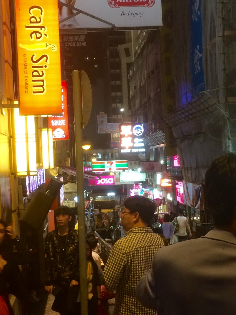 The bustle of Lan Kwai Fong